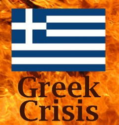 Greek Crisis, based on photo by Dave Hogg