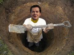 Osborne digging a hole, based on original by by coljay72