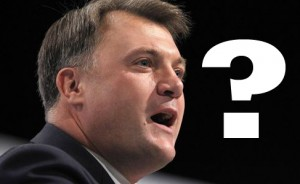 Ed Balls question mark, photo Peter Byrne/PA Wire