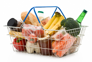 "CPI is calculated from a changing ""shopping basket"" of representative items"