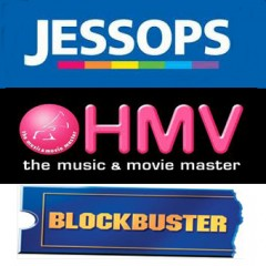 HMV, Jessops and Blockbuster vouchers