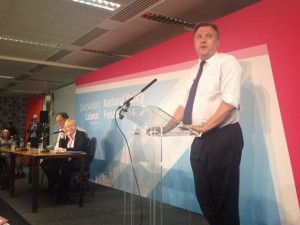 Ed Balls addressing Labour NPF 2014