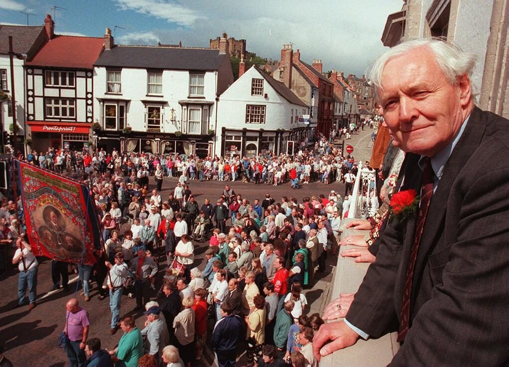 Tony Benn at Durham Miners Gala