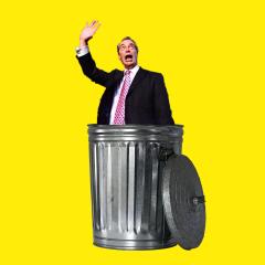 farage in dustbin