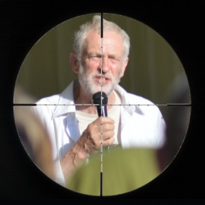 Jeremy Corbyn, in the cross hairs