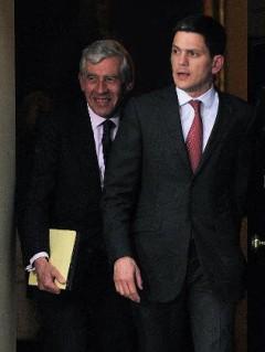 Jack Straw and David  Miliband
