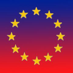 reddish Euro flag