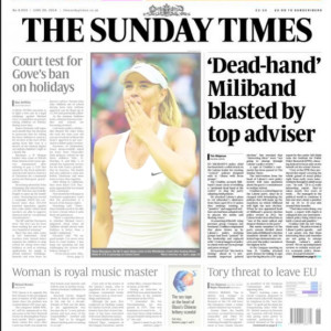 Sunday Times dead hand Miliband blasted by top adviser
