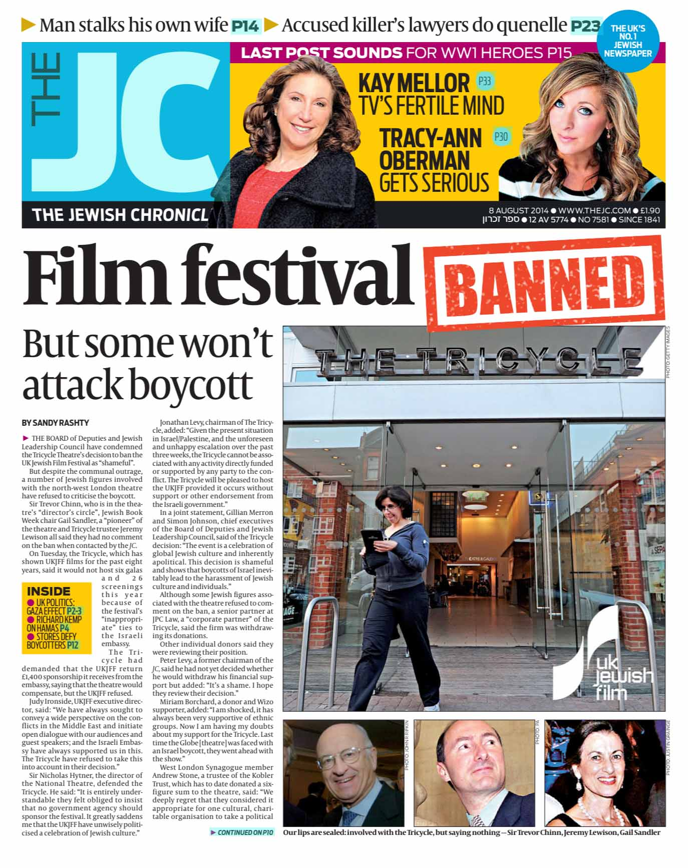 Jewish Chronicle fron