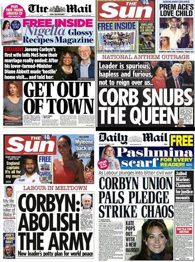 Corbyn media storm