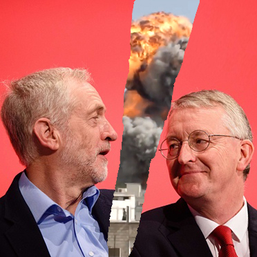Corbyn & Benn divided by war