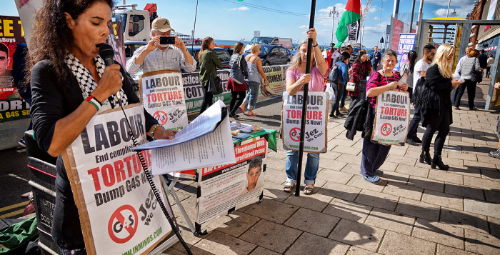 Protest at Labour Conference in Brighton September 2015, Photo Inminds.com