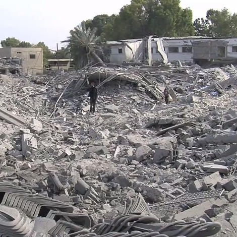 Destruction in Gaza after Israeli bombardment, part of Operation Pillar of Defense Dateby Scott Bob
