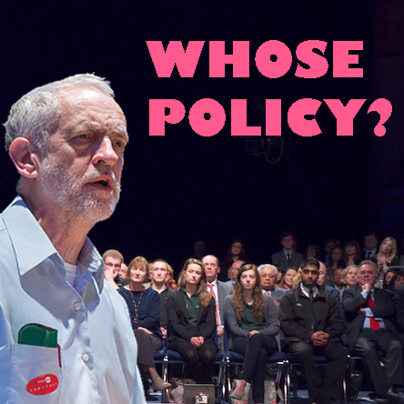 Jeremy Corbyn Whose Policy