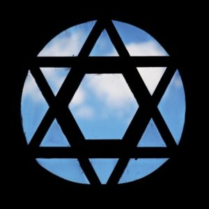 Star of David, blue sky, zionism